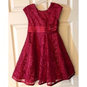 Fancy Red Lace Holiday Dress